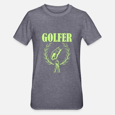 Golfer with golf glove retro style - Unisex Polycotton T-Shirt