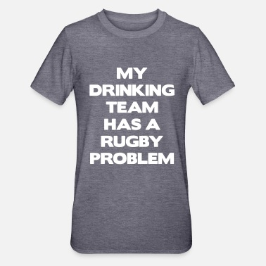 Team My Drinking Team Has a Rugby Problem - Unisex polycotton T-shirt