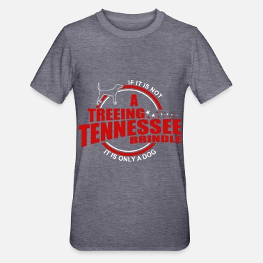 Getijgerd Treeing Tennessee Brindle is de enige hond T-shirts - Unisex Polycotton T-shirt