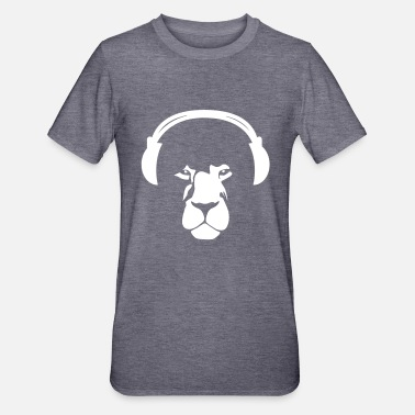 Earphones Lion with Earphones - Unisex Polycotton T-Shirt