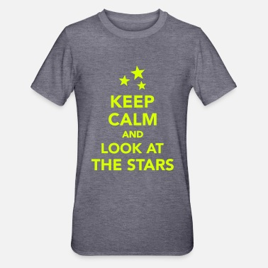 Stars Keep calm and look at the stars - Maglietta da unisex, mix cotone e poliestere