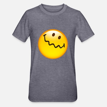 Uncertain Smiley Glossy Uncertain - Unisex Polycotton T-Shirt