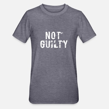 Jail Not Guilty TShirt Distressed Prisoner Jail Inmate - Unisex Polycotton T-Shirt