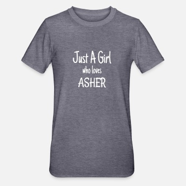 Asher Producto divertido de Just A Girl Who Lover Asher - Camiseta en polialgodón unisex
