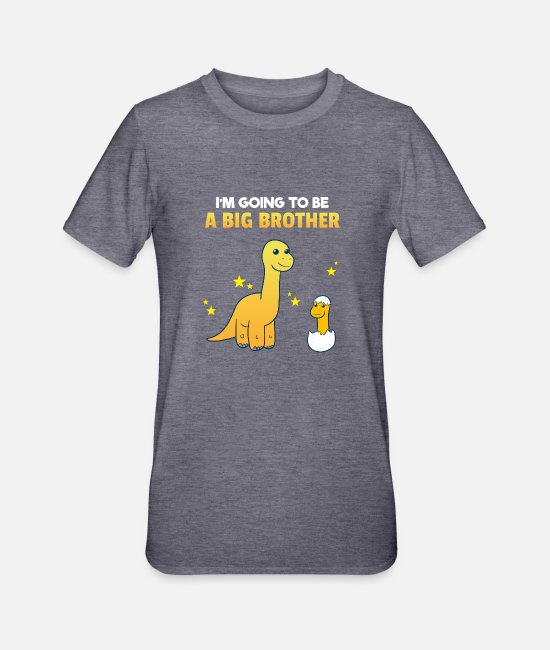 Brotherasurus T-Shirts - Siblings brother Brothersaurus I gift - Unisex Polycotton T-Shirt heather navy