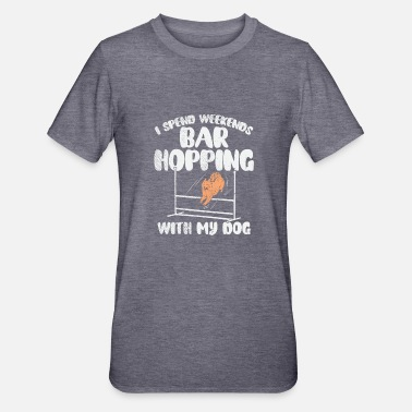 Bar Hop I Spend Weekends Bar Hopping With My Dog - Unisex Polycotton T-Shirt