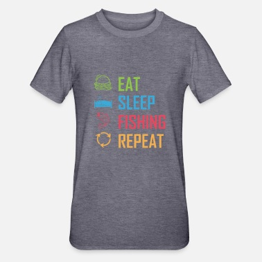 Eat Sleep Fish Repeat Eat Sleep Fishing Repeat - Unisex Polycotton T-Shirt