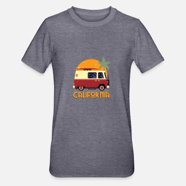 Søt California Hippie Van Retro Beach - Unisex Polycotton T-skjorte