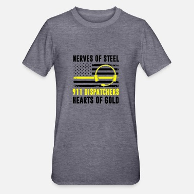 Policewoman Nerve Steel Dispatcher Heart The Gold Police - Unisex Polycotton T-Shirt