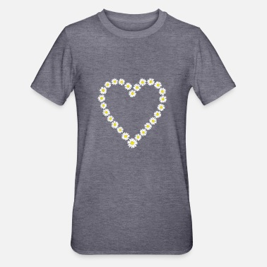 Daisy Heart of daisies nature-loving - Unisex Polycotton T-Shirt