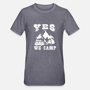 Camper Ja, wir können ähhh campen! Yes we camp - Unisex Polycotton T-Shirt