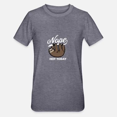 Nope Ikke i dag sloth gave - Unisex polycotton T-shirt
