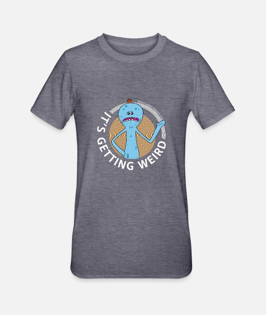 Mr Meeseeks T-shirts - Rick et Morty Mr Meeseeks It's Getting Weird Mug - T-shirt polycoton Unisexe marine chiné