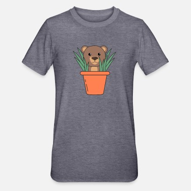 Brown Bear Plants Bear Brown Bear Flower Pot Bears - Unisex Polycotton T-Shirt
