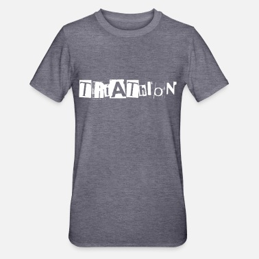 Ransom Triathlon lettering from newspaper snippets - Unisex Polycotton T-Shirt