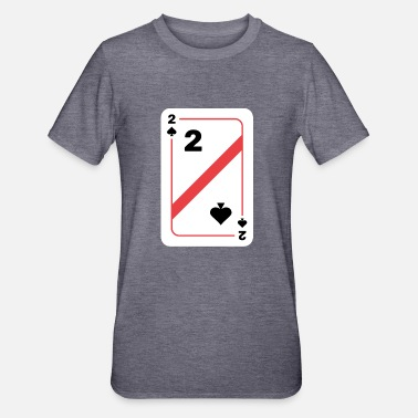 Deck Two spades playing card poker card - Unisex Polycotton T-Shirt