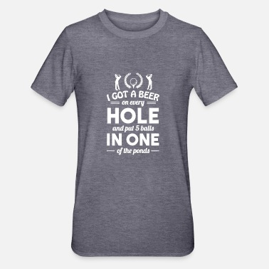 Hole FUNNY GOLF HOLE IN ONE T SHIRT - Unisex Polycotton T-Shirt