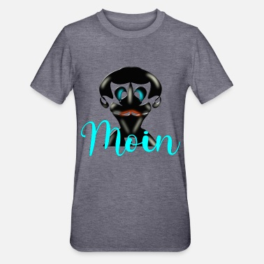 MOIN CARTOON MAN WITH MUSTACHE BEARD - Unisex Polycotton T-Shirt