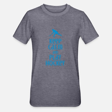 Love keep calm and play hockey - Unisex Polycotton T-shirt