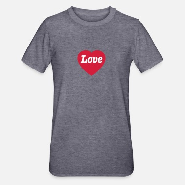 Love With Heart Heart with Love - Polycotton-T-shirt unisex
