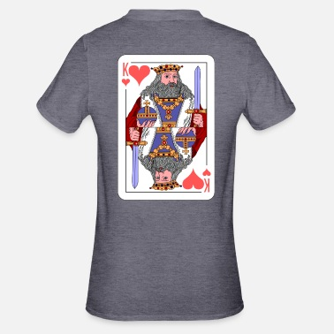Carte Idea regalo King Playing Card - Maglietta da unisex, mix cotone e poliestere