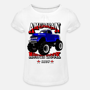 Monster Truck Monster truck - T-shirt à fronces au col Fille