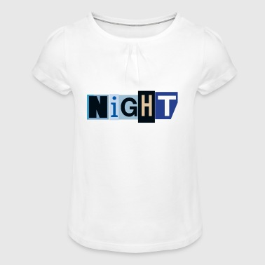 Night - Girl's T-Shirt with Ruffles