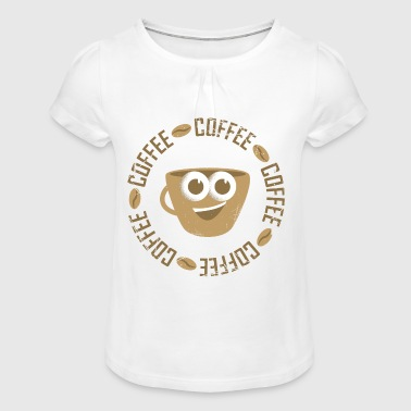 Coffee for coffee lovers - Girl's T-Shirt with Ruffles
