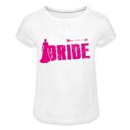 Fesselnd Bruid! Vrijgezel   Meisjes T Shirt Met Plooien