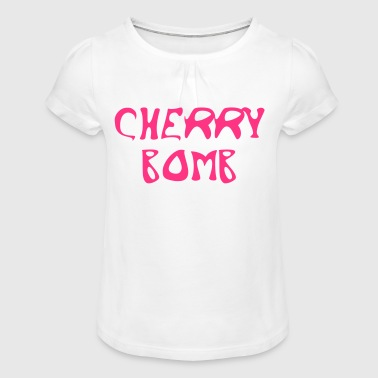Cherry Bomb Graffiti - Girl's T-Shirt with Ruffles