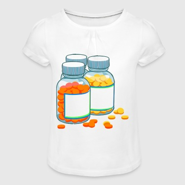médicaments - T-shirt à fronces au col Fille