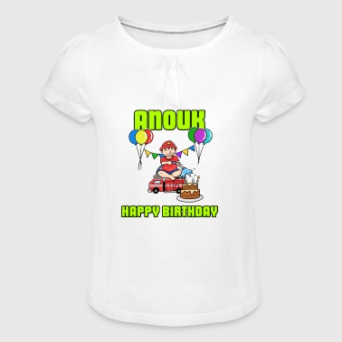Birthday Fire Department Anouk Gift Birthday - Girl's T-Shirt with Ruffles