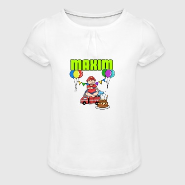 Fire Brigade Maxim Gift - Girl's T-Shirt with Ruffles