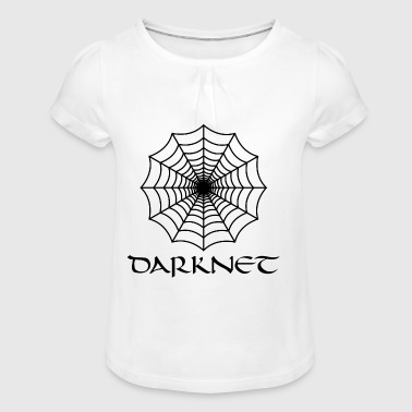 Internet Spider Darknet Web Motivational Humor - Girl's T-Shirt with Ruffles