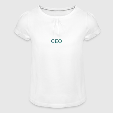 ceo - Girl's T-Shirt with Ruffles