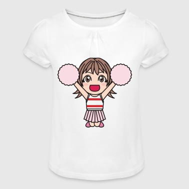 cheerleader football baseball basketball icehockey - Girl's T-Shirt with Ruffles