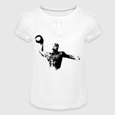 Water polo, water polo throwing - Girl's T-Shirt with Ruffles