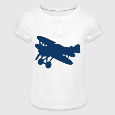 avion à hélice - T-shirt à fronces au col Fille