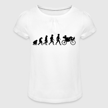 Evolution recumbent recumbent bike bicycle cycling - Girl's T-Shirt with Ruffles