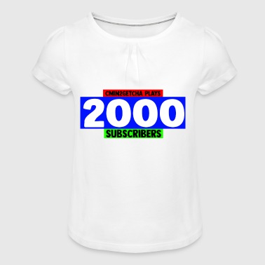 2000 Subscribers - Girl's T-Shirt with Ruffles