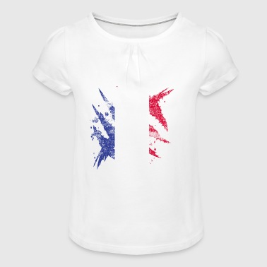 France flag gift french flag - Girl's T-Shirt with Ruffles