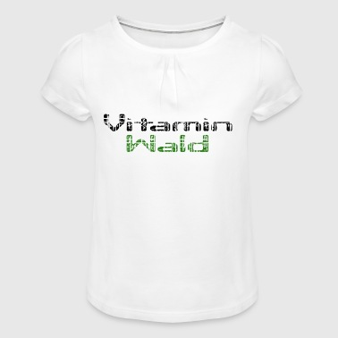vitamine - T-shirt à fronces au col Fille