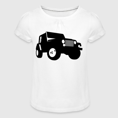 Jeep - SUV - Girl's T-Shirt with Ruffles