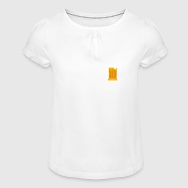 Cheers and Beers To 44 Years - Girl's T-Shirt with Ruffles