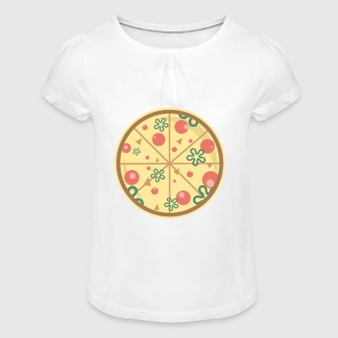 Pizza food fast food - Girl's T-Shirt with Ruffles
