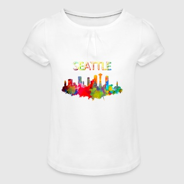 Seattle - Girl's T-Shirt with Ruffles