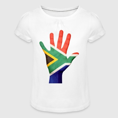 South Africa - Girl's T-Shirt with Ruffles