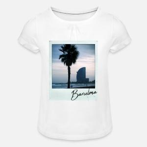 Camiseta con drapeado niña d754090f138