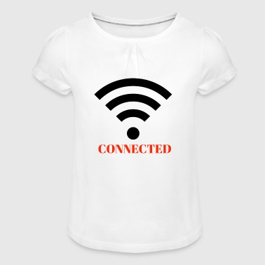 CONNECTE - T-shirt à fronces au col Fille