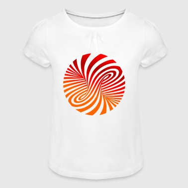 trippy - Girl's T-Shirt with Ruffles